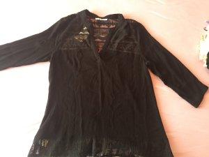 Schwarze Tunika-Bluse