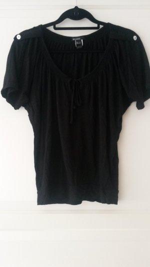 schwarze Tunika mit Schluppe