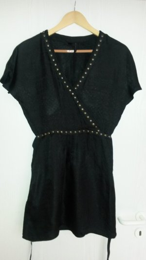 Schwarze Tunikabluse von Mango