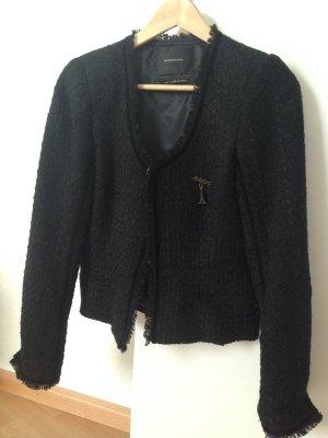 Schwarze Tweedjacke von Maison Scotch