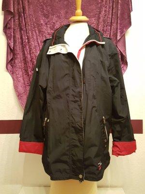Schwarze Übergangsjacke Allwetterjacke Windjacke Jacke im Marine Stil Gr.XL neu