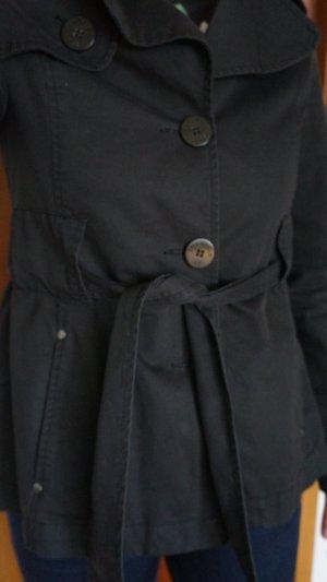 Schwarze Übergangsjacke Trenchcoat