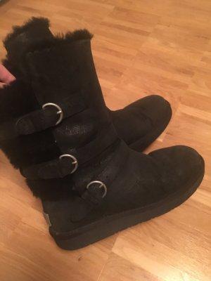 Schwarze UGG Boots Gaus Leder