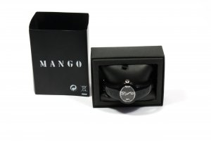 Mango Watch Clasp black synthetic material