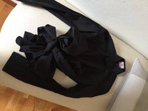 Schwarze Umani Bluse mit Schleife, Gr. S