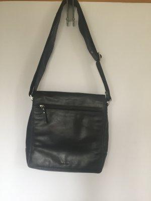 Schwarze Umhängetasche Leder aus Italien
