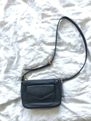 & other stories Crossbody bag black-gold-colored leather