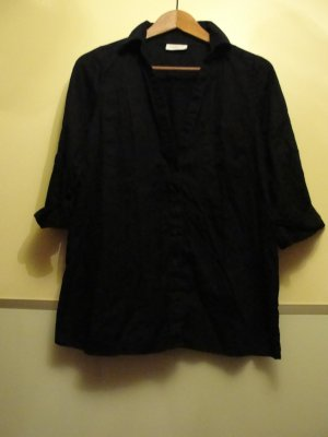 C&A Tie-neck Blouse black cotton