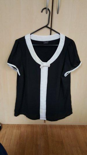 Schwarze und weiße Bluse, Gr.L