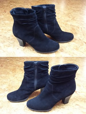 5th Avenue Slouch Booties black leather