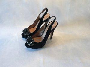 schwarze Velourlederpumps von Zara - nur 2x getragen
