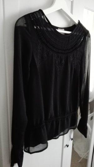 schwarze verzierte Bluse