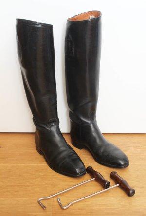 schwarze vintage Reiterstiefel
