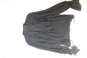 Schwarze Volant Bluse