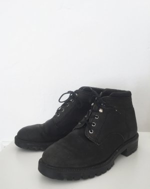 Lace-up Booties multicolored leather