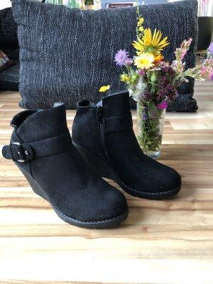 Wedge Booties black