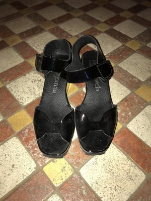Pedro garcia Wedge Sandals black