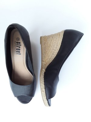 Street Wedge Sandals black-oatmeal