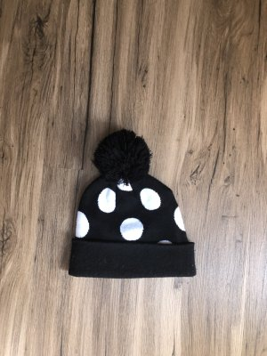 Schwarze weiße Wintermütze von H&M