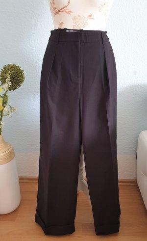 schwarze, weite, highwaist Bundfaltenhose von Closet (asos)