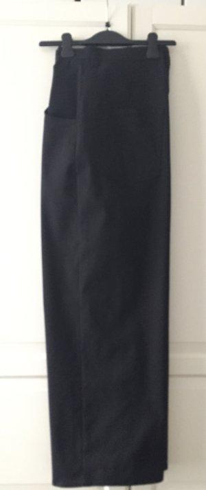 Schwarze weite Highwaist Jeans style Hose mit Lycra