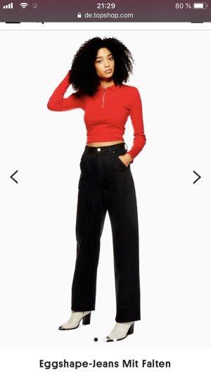schwarze weite topshop jeans