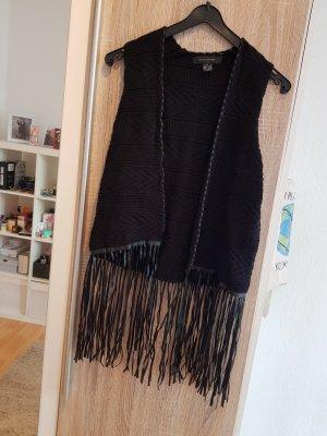 Atmosphere Smanicato lavorato a maglia nero
