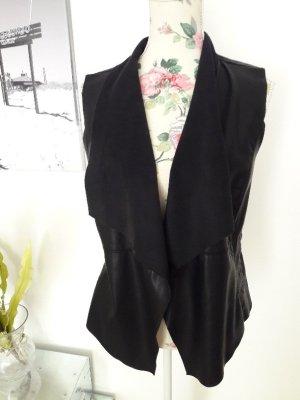 Only Leather Vest black