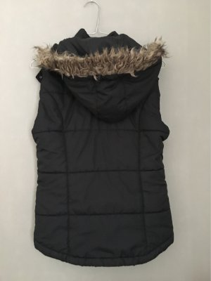 FlashLights Fur vest black