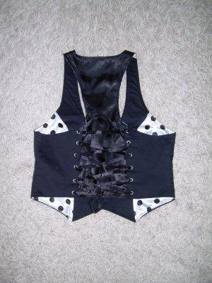 Amisu Omkeerbaar vest zwart