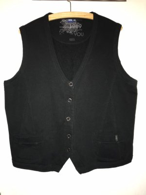 Cecil Knitted Vest black cotton