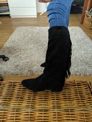 Bronx Botas estilo vaquero negro Gamuza