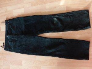 schwarze Wildleder Hose - echt Leder - super Zustand