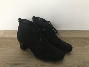Gabor Bottines à lacets noir daim