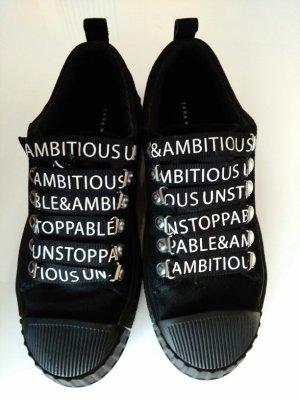 Schwarze Wildleder Sneaker