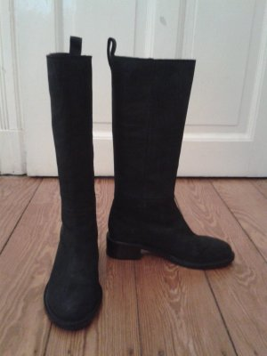 & other stories High Boots black suede