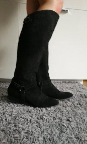 schwarze wildleder Stiefel von Pesaro