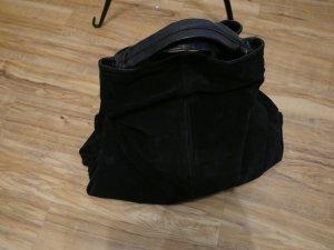 Schwarze Wildleder Tasche von  Mango