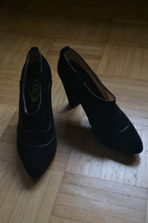 Schwarze Wildleder Tod's Ankle Boots