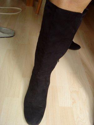 schwarze Wildlederstiefel von Graceland Größe 42
