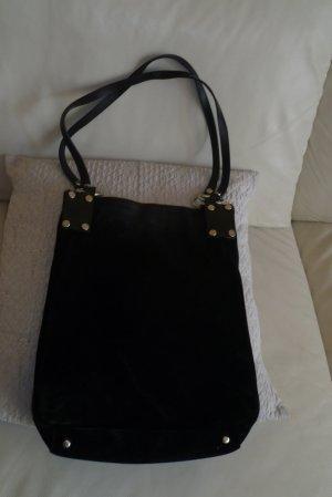 Schwarze Wildledertasche