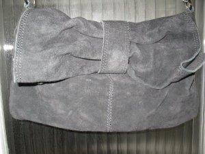 Schwarze Wildledertasche mit Schleife, für lässige weibliche Looks