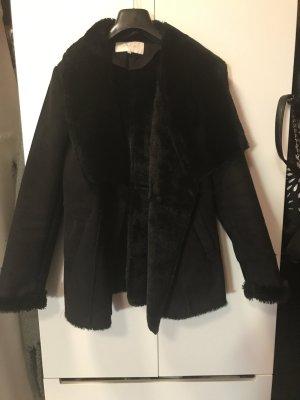Vila Fur Jacket black