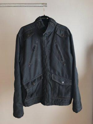 Giacca bomber marrone-grigio-nero