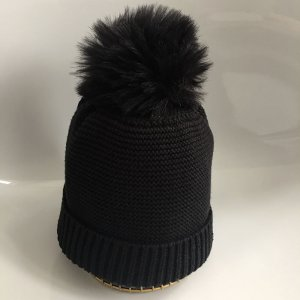 Tom Tailor Bobble Hat black cotton