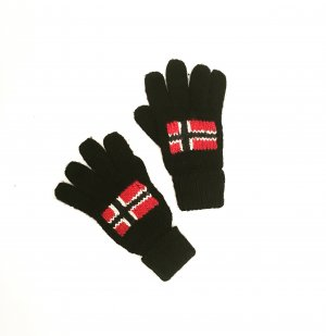 schwarze wollhandschuhe / napapijri / casual / knits / ski