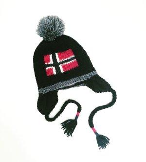 schwarze wollmütze / napapijri / knits / strick