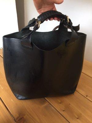 Schwarze XXL Bag aus Echtleder