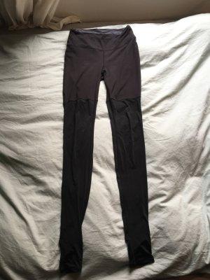 Schwarze yoga pants Sporthose leggins über Füße lang tights Sport Hose schwarz high waist