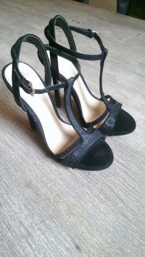 Zara Trafaluc Sandalo con cinturino e tacco alto nero-argento Scamosciato